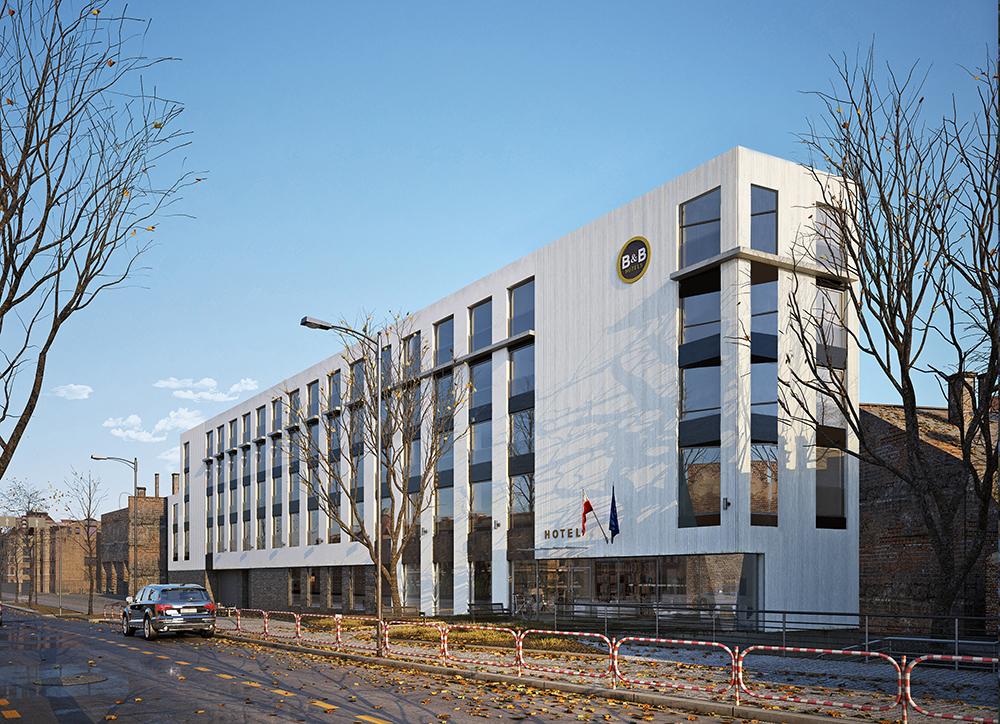 B&B Hotel – elevation project, Kraków
