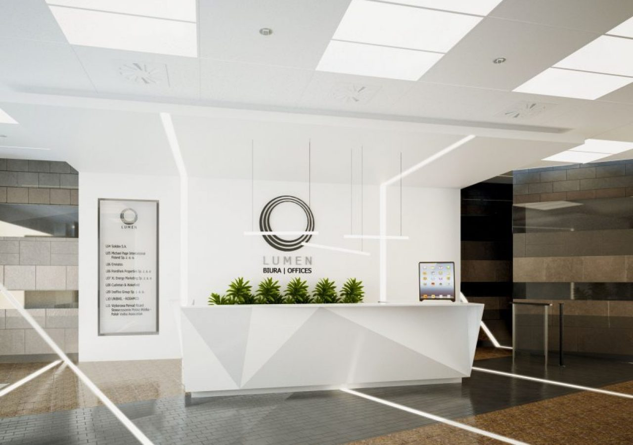 office reception. Lumen Building Office Reception, Warszawa Reception